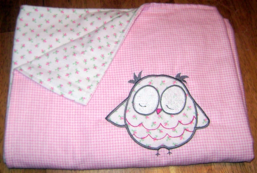 Sleepy Owl blanket